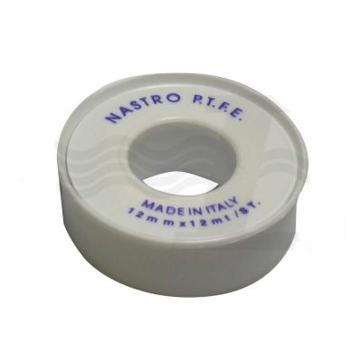 NASTRO IN TEFLON (PTFE) 12mm X 12MT X 0,075mm